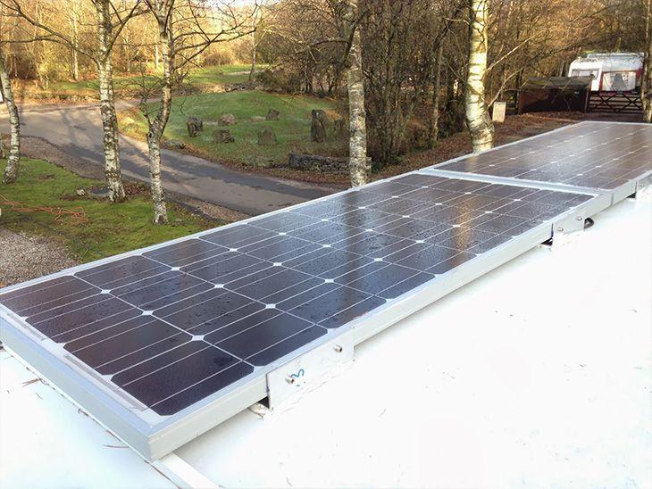 Avtodom najem: Solarne celice vključene